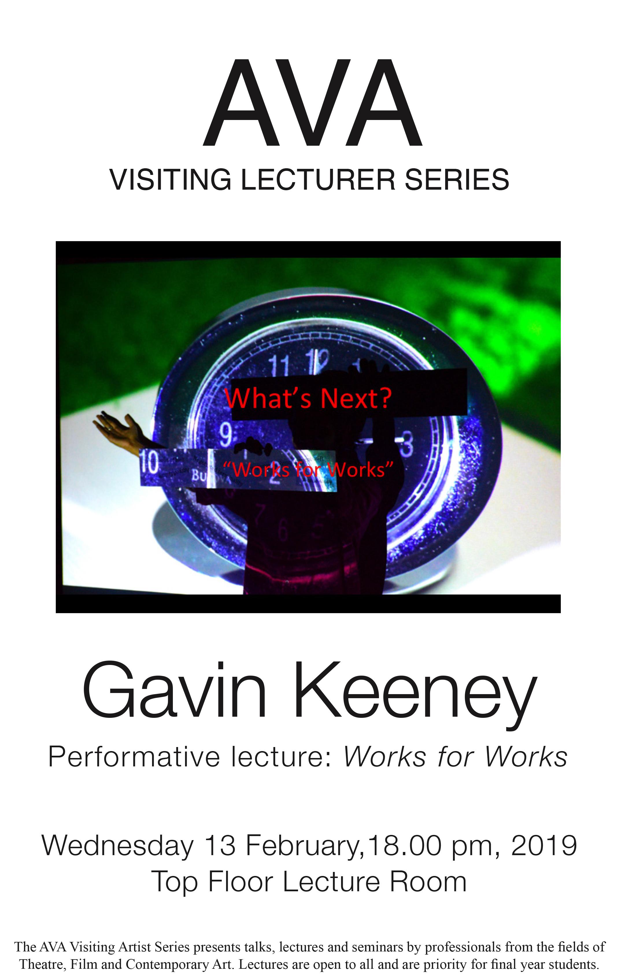Gostujoči predavatelj: Gavin Keeney